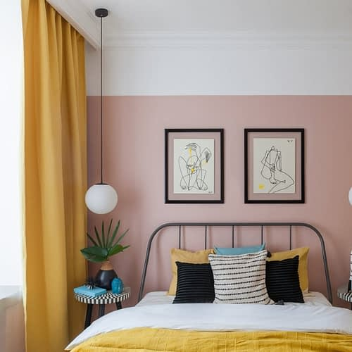 Amenajare colorata cu accente retro intr-un apartament din Moscova. 1