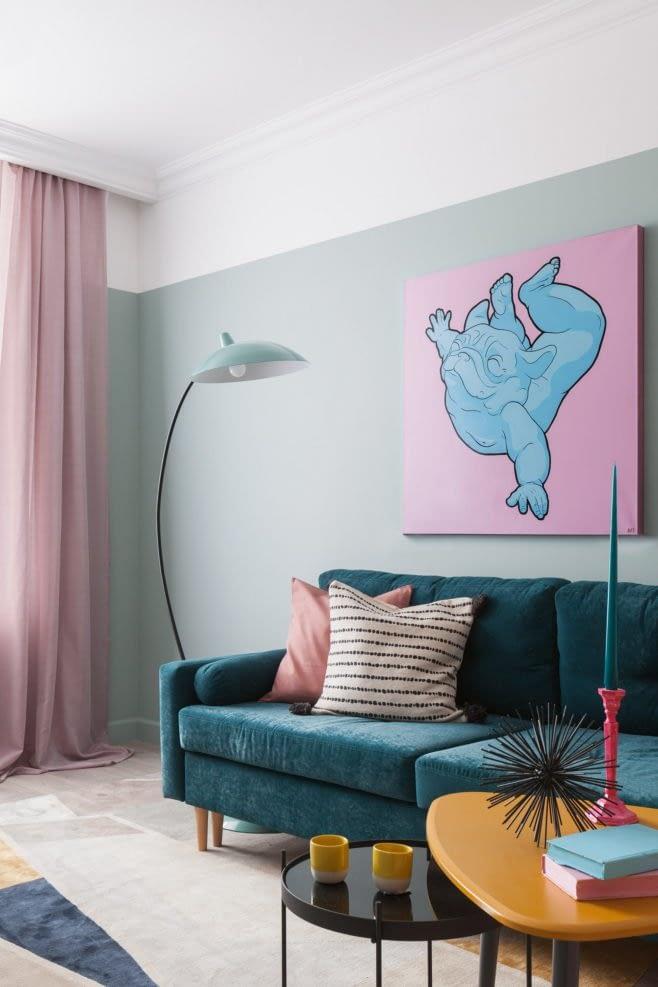 Amenajare colorata cu accente retro intr-un apartament din Moscova. 6