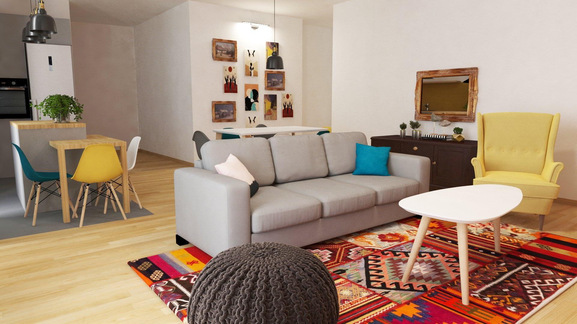 Design interior apartament Timisoara SILKEBORG 02