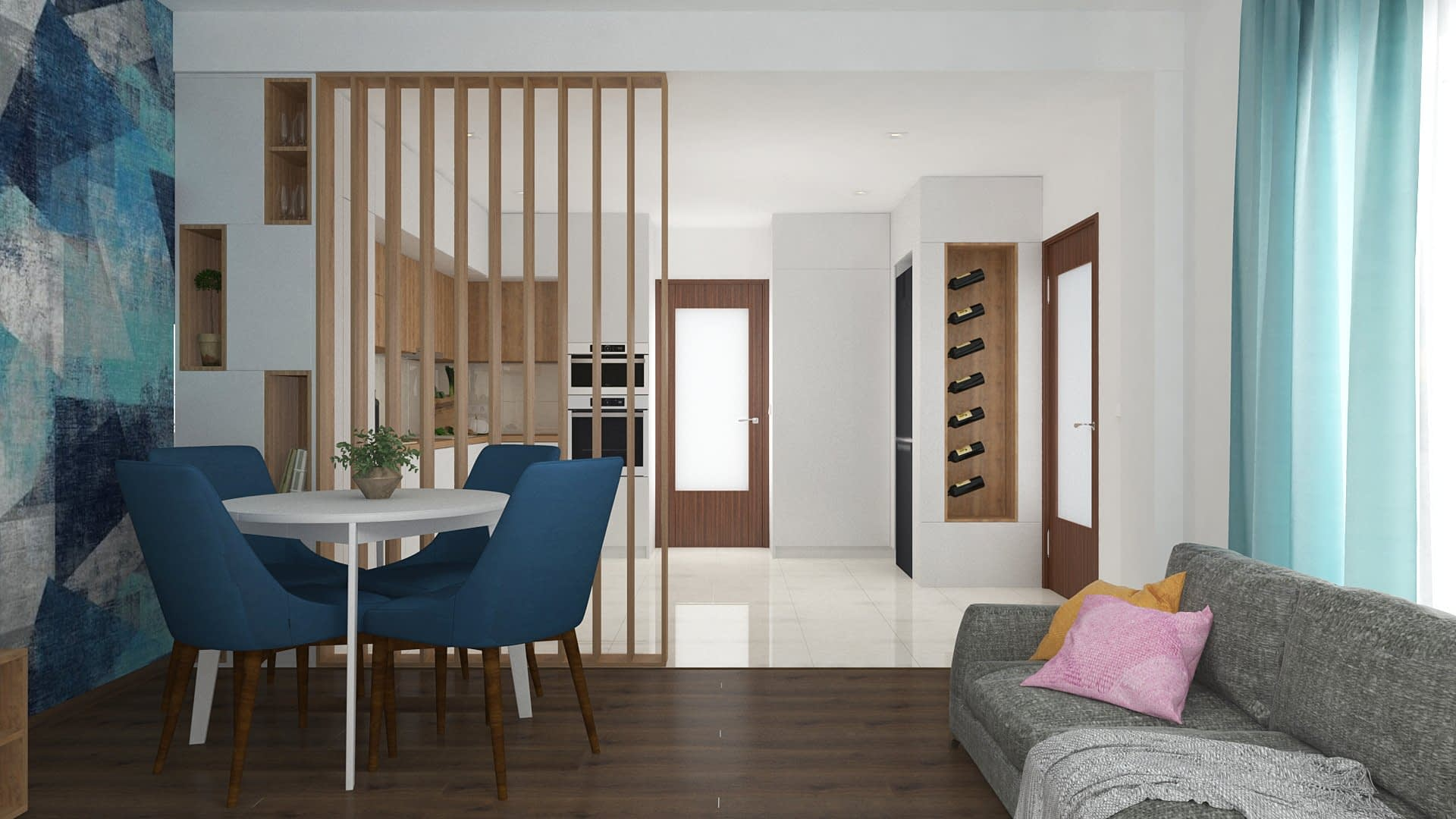 Denim | Kitchen & Living Design 02