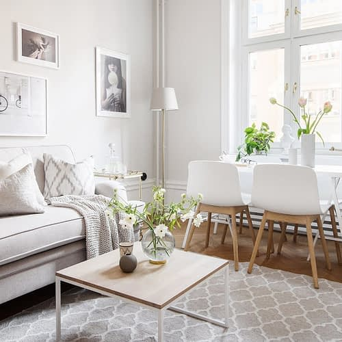 Amenajare scandinava in tonuri naturale de culoare intr-un apartament de 43 mp. 1