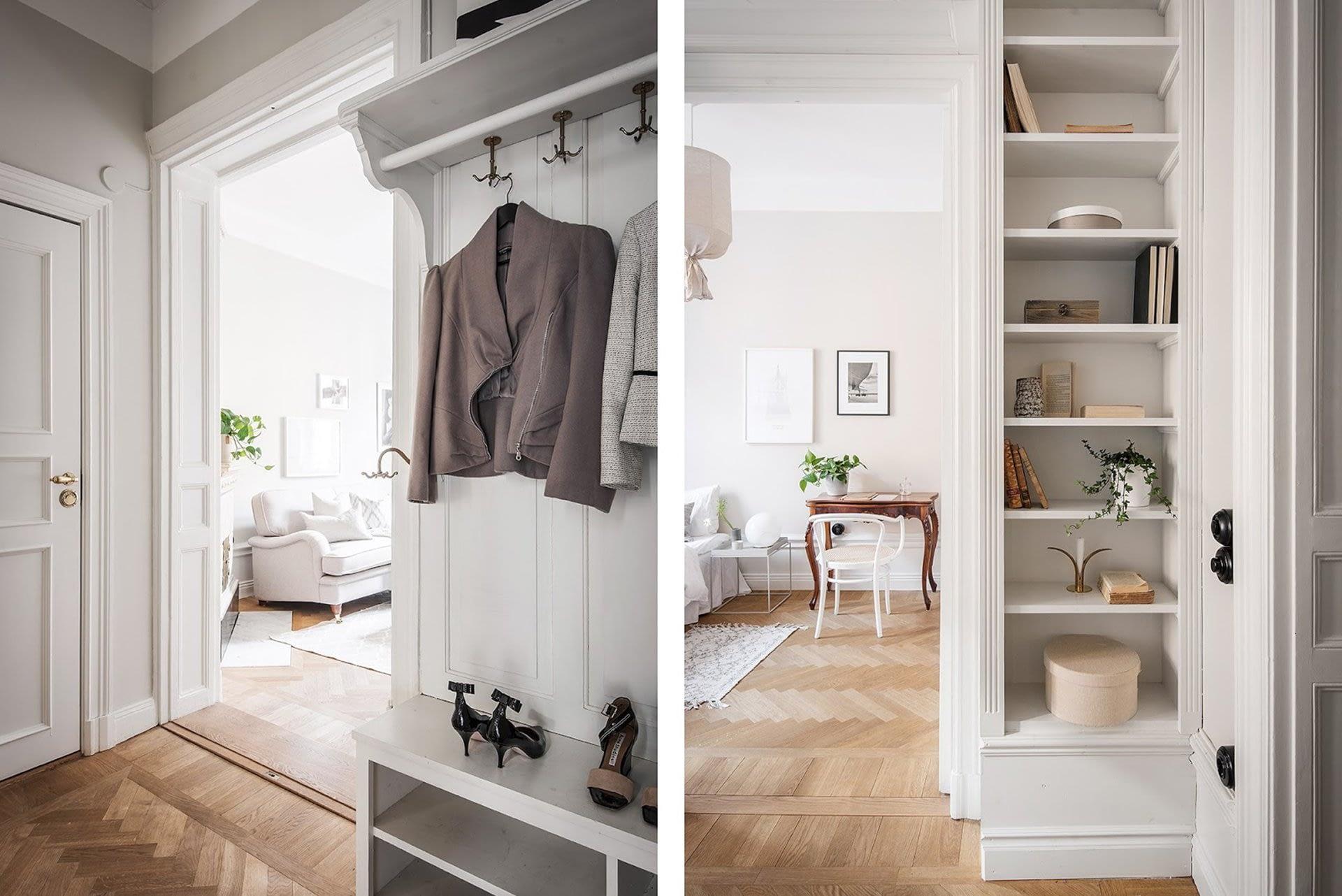 Amenajare scandinava in tonuri naturale de culoare intr-un apartament de 43 mp. 23
