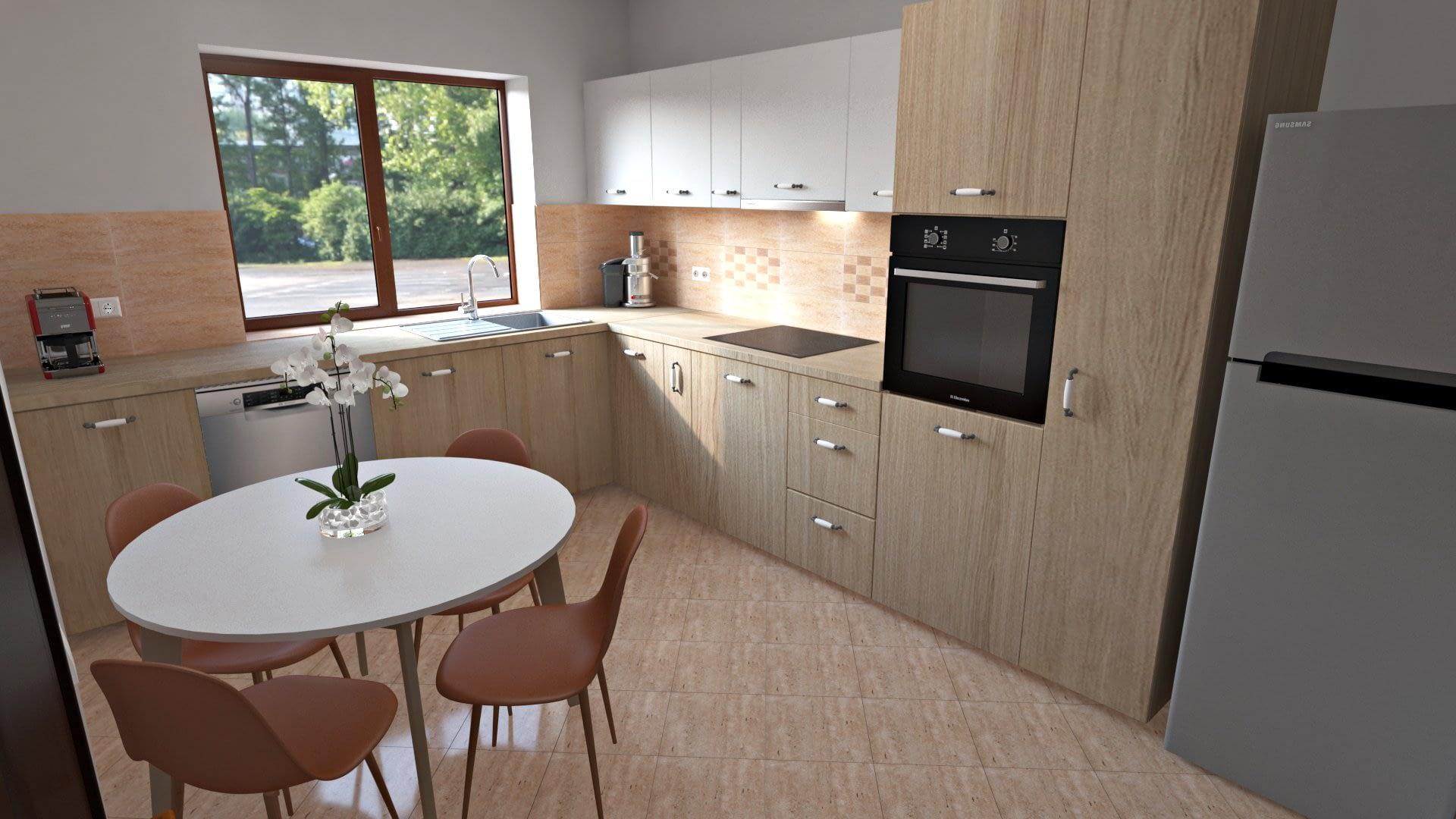 Design Interior Bucatararie | Travertin 01