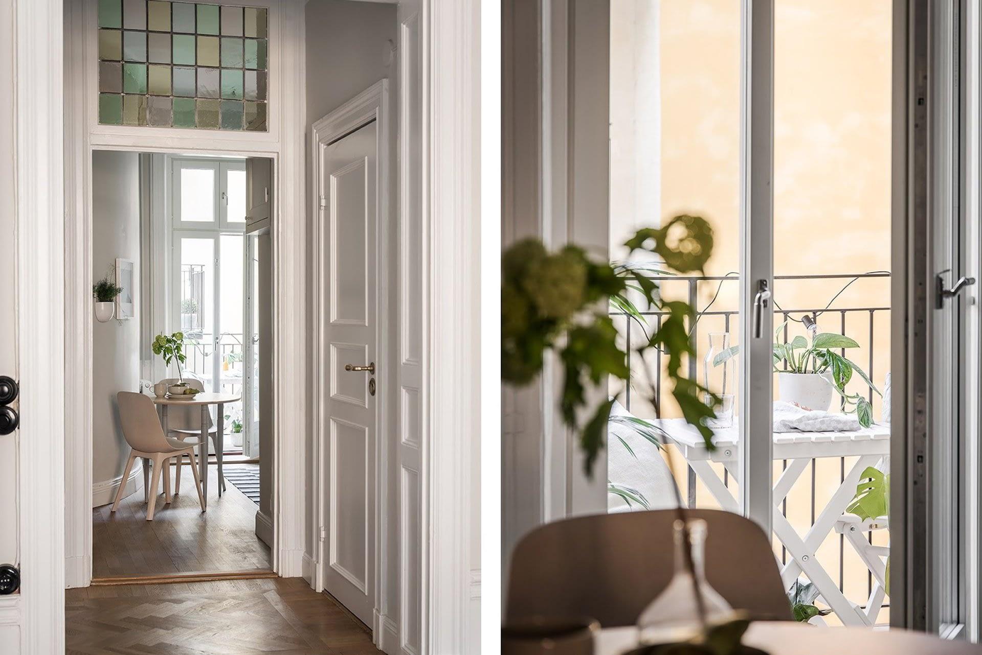Amenajare scandinava in tonuri naturale de culoare intr-un apartament de 43 mp. 22