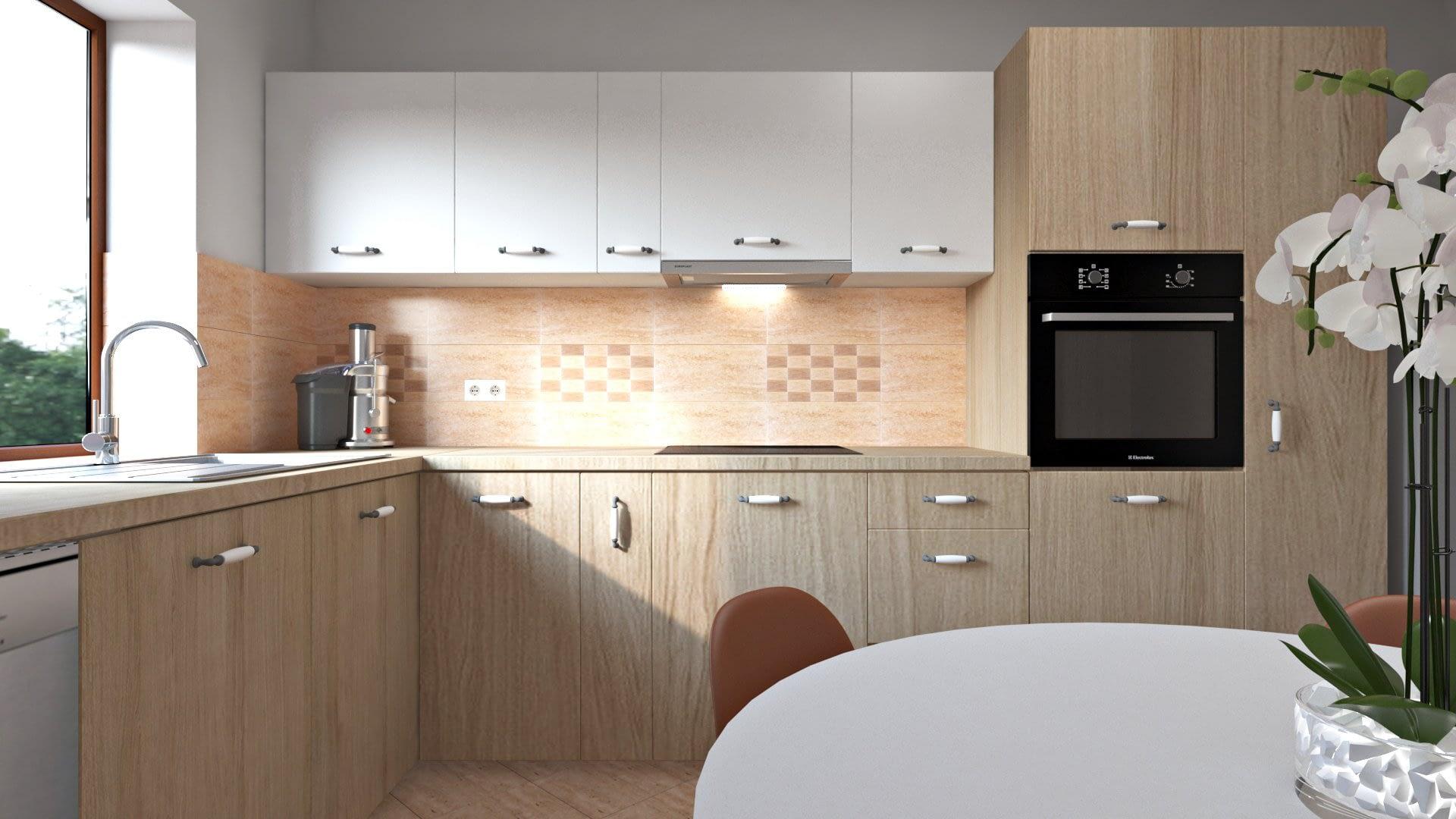 Design Interior Bucatararie | Travertin 02