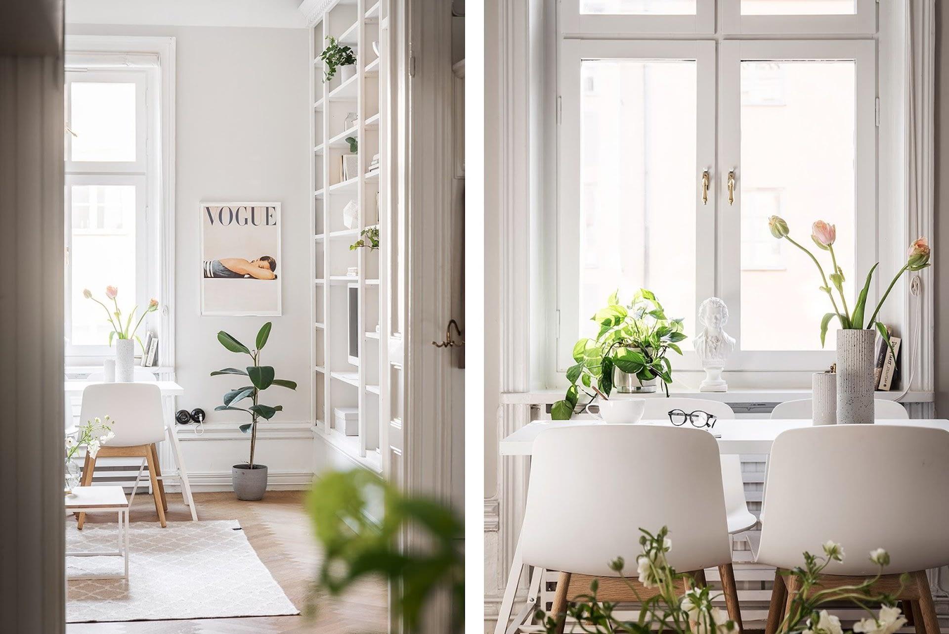 Amenajare scandinava in tonuri naturale de culoare intr-un apartament de 43 mp. 8