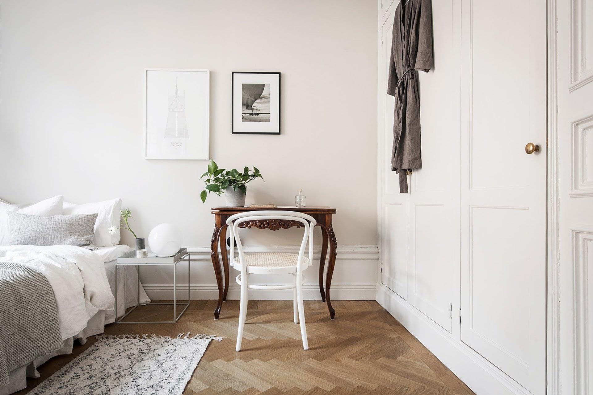Amenajare scandinava in tonuri naturale de culoare intr-un apartament de 43 mp. 16