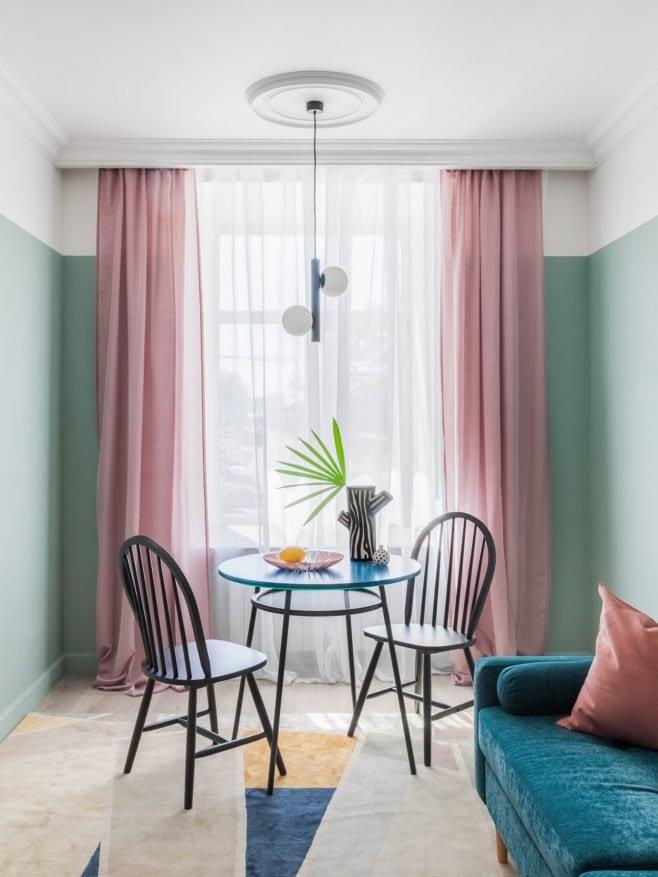 Amenajare colorata cu accente retro intr-un apartament din Moscova. 7