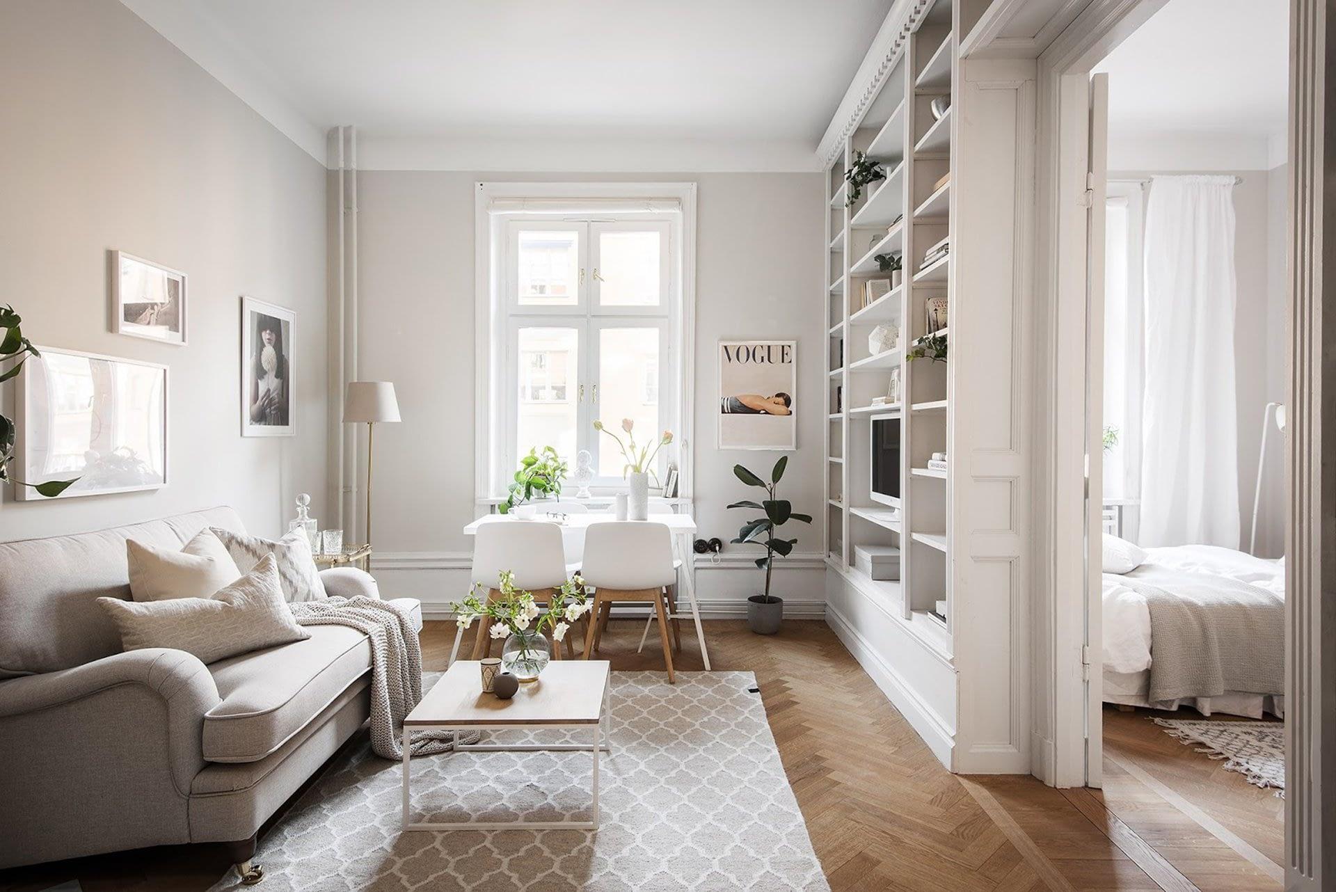 Amenajare scandinava in tonuri naturale de culoare intr-un apartament de 43 mp. 6