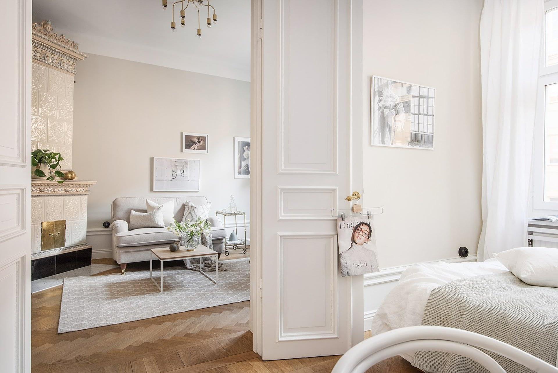 Amenajare scandinava in tonuri naturale de culoare intr-un apartament de 43 mp. 9