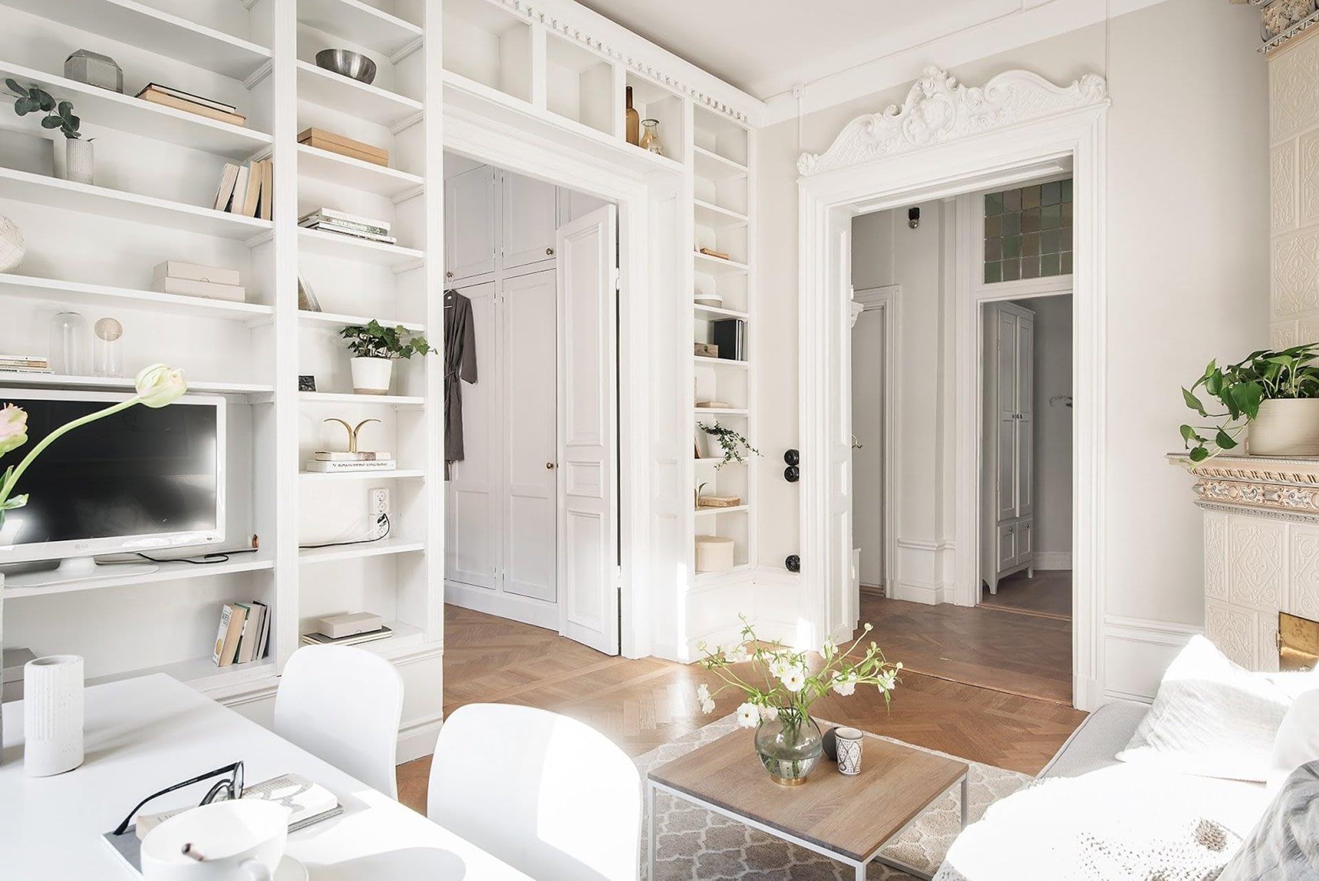 Amenajare scandinava in tonuri naturale de culoare intr-un apartament de 43 mp. 11