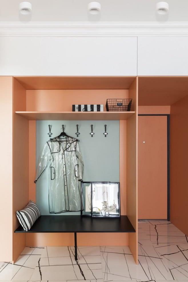 Amenajare colorata cu accente retro intr-un apartament din Moscova. 5