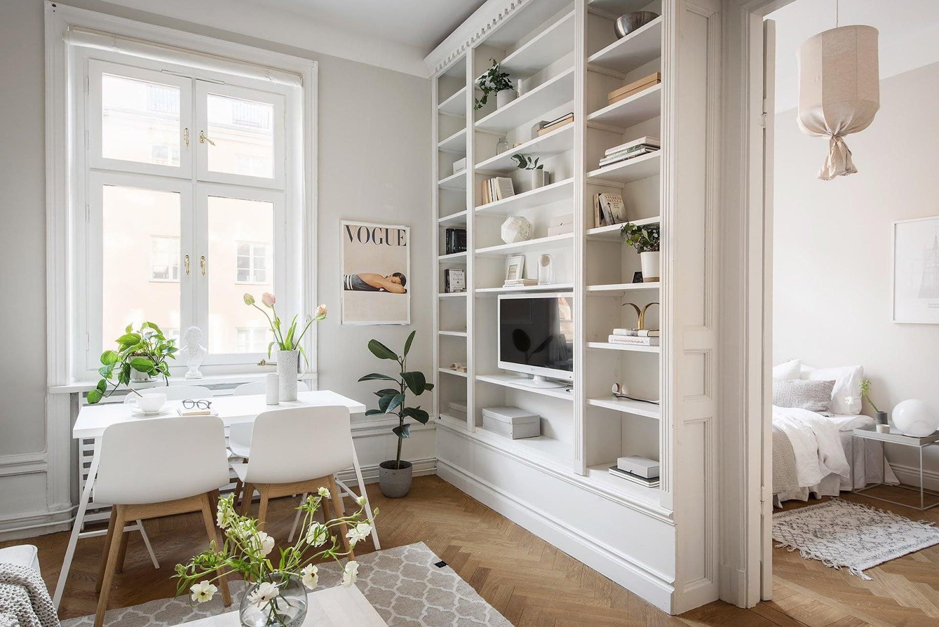Amenajare scandinava in tonuri naturale de culoare intr-un apartament de 43 mp. 12