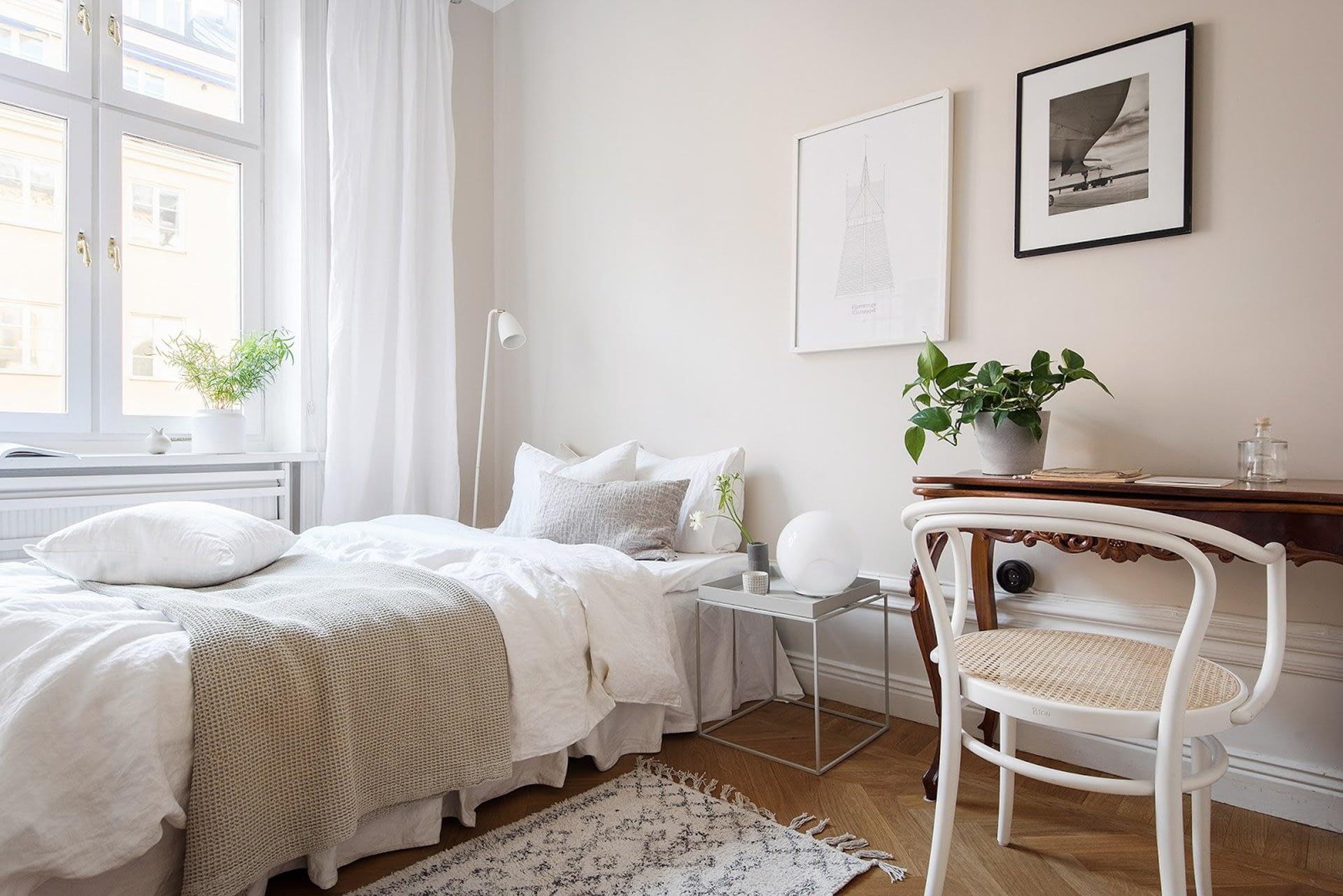 Amenajare scandinava in tonuri naturale de culoare intr-un apartament de 43 mp. 14